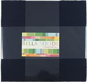 Bella Solids Navy Junior Layer Cake 20 10-inch Squares Moda Fabrics 9900JLC 20