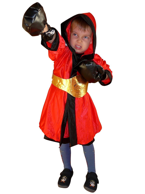 Promoción por tiempo limitado TO81 tamaño de 2-4 años Disfraz Boxer 6 piezas de vestuario boxeador boxeo Trajes de carnaval para niños