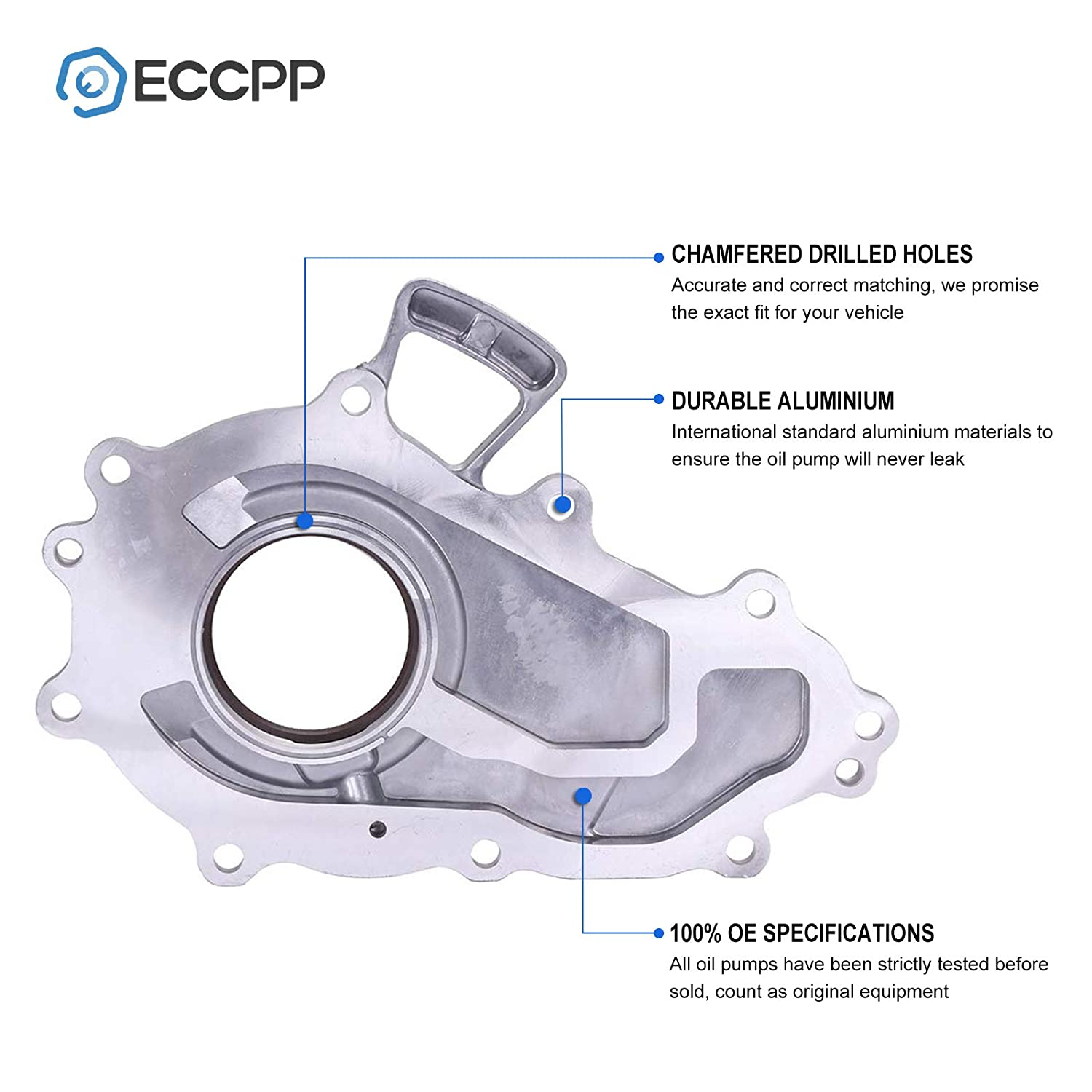 1995-2004 Toyota Tacoma Pump ECCPP Engine Oil Pump K334 15115-75020 Fit for 1996-2000 Toyota 4Runner 1994-1998 Toyota T100