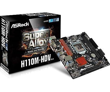 ASRock H110M-HDV R3 0 7th Gen BIOS Updated Motherboard (VGA+DVI+HDMI Port)