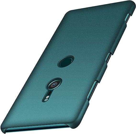 anccer Funda Sony Xperia XZ3, Ultra Slim Anti-Rasguño y Resistente Huellas Dactilares Totalmente Protectora Caso de Duro Cover Case para Sony Xperia XZ3 (Grava Verde): Amazon.es: Electrónica