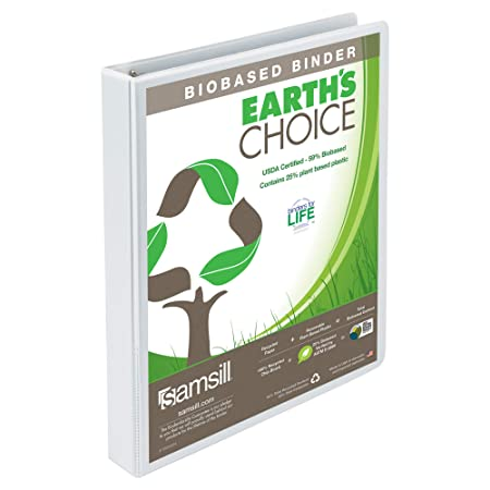 Earth`s Choice Biodegradable Round Ring View Binder, 1