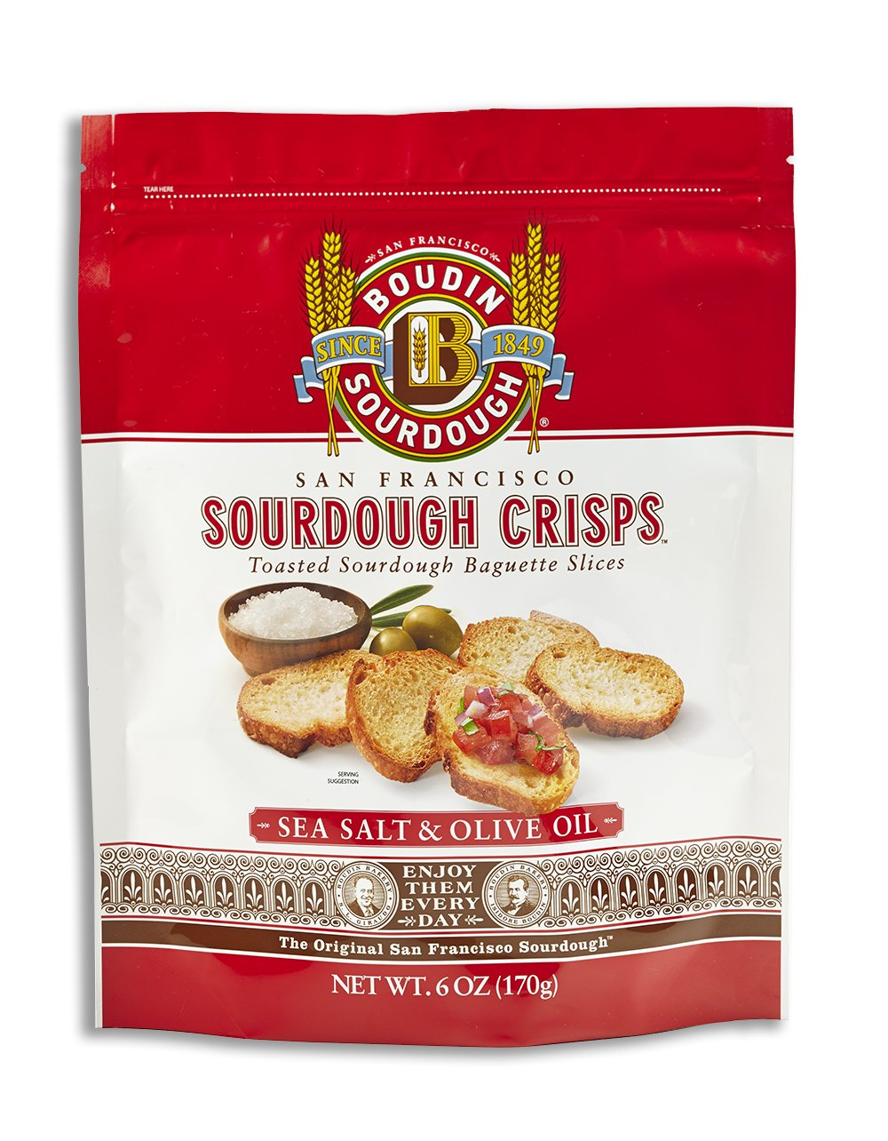 San Francisco Boudin Bakery Sourdough Crisps-Asiago