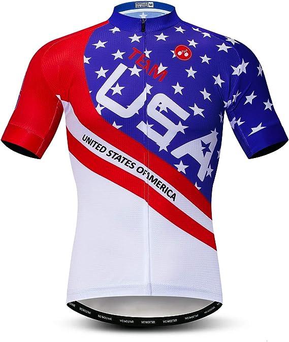 Men's Cycling Jerseys Tops Biking Shirts Short Sleeve Full Zipper Bike Clothing