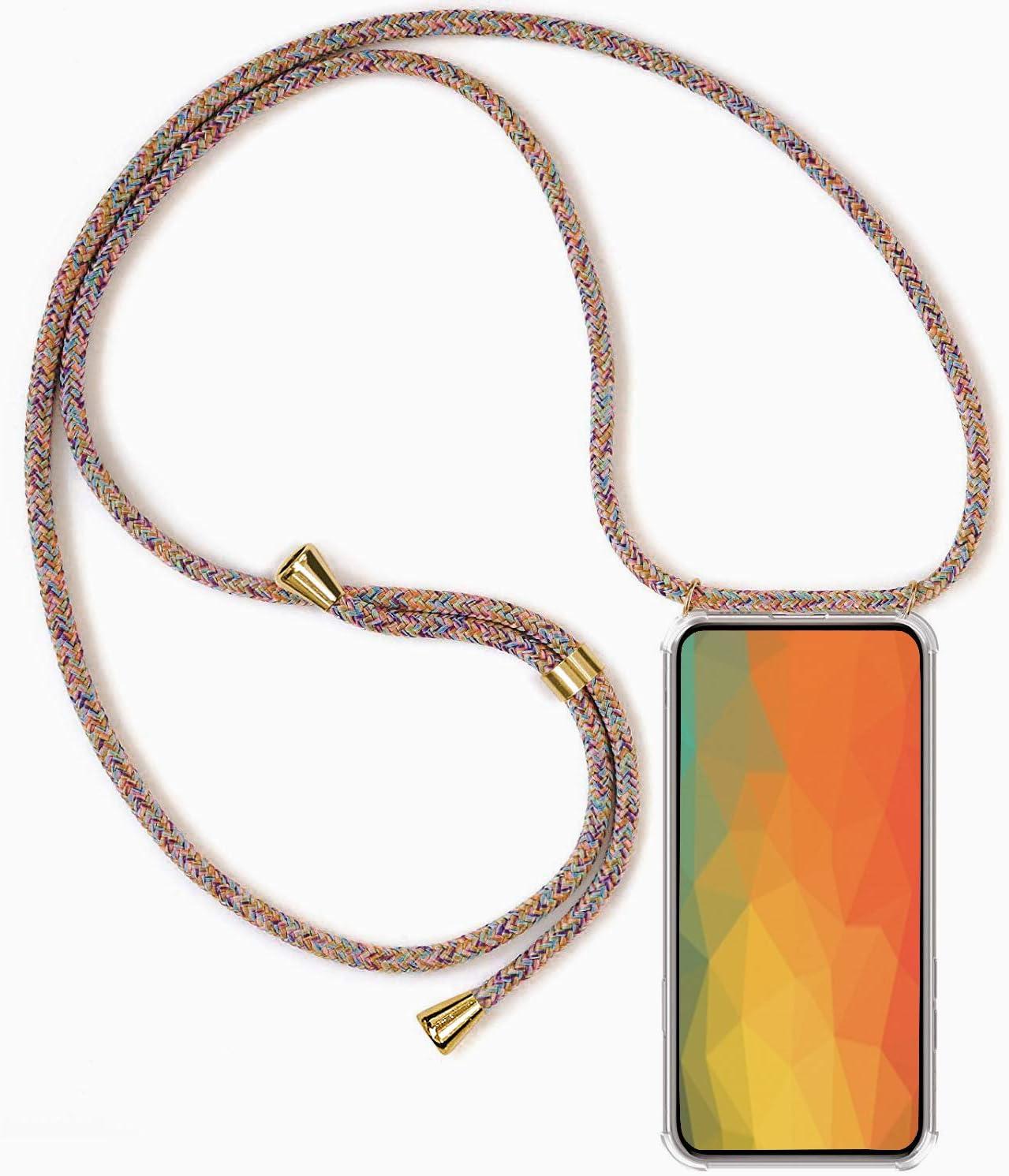 Funda para iPhone 12 Pro MAX con Cuerda, iPhone 12 Pro MAX Carcasa Transparente TPU Suave Silicona Case con Correa Colgante Ajustable Collar Correa de ...
