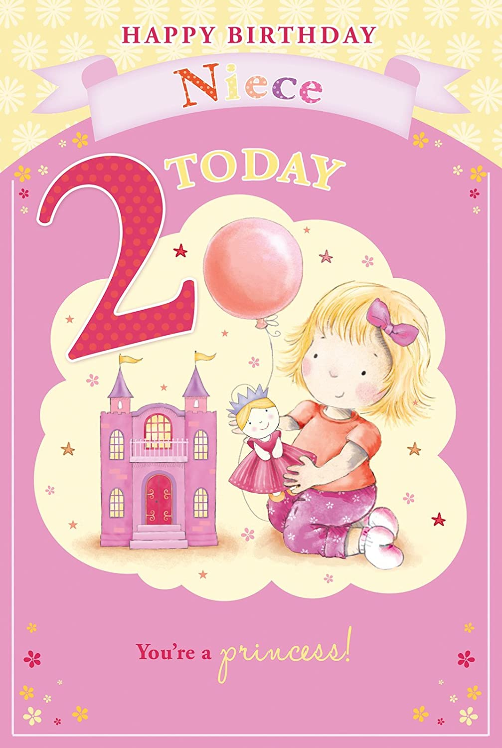 Granddaughters 2nd Birthday Card 2 Today Little Girl Fairy – Happy 2nd Birthday Card