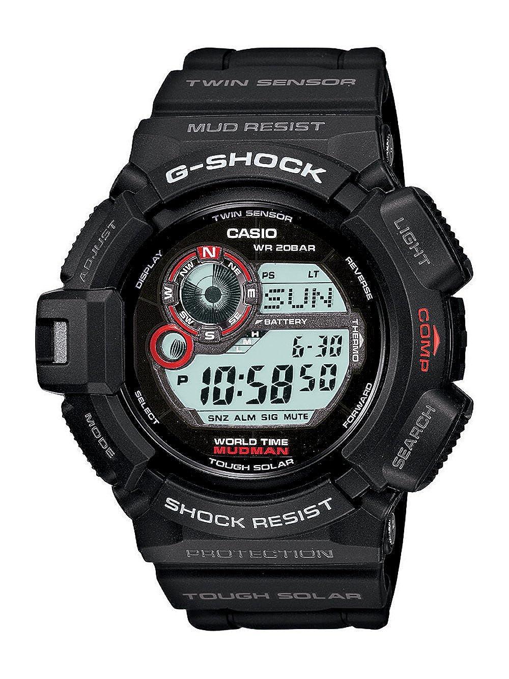 829e433bbe Casio Men's G9300-1 Mudman G-Shock Shock Resistant Multi-Function Sport  Watch