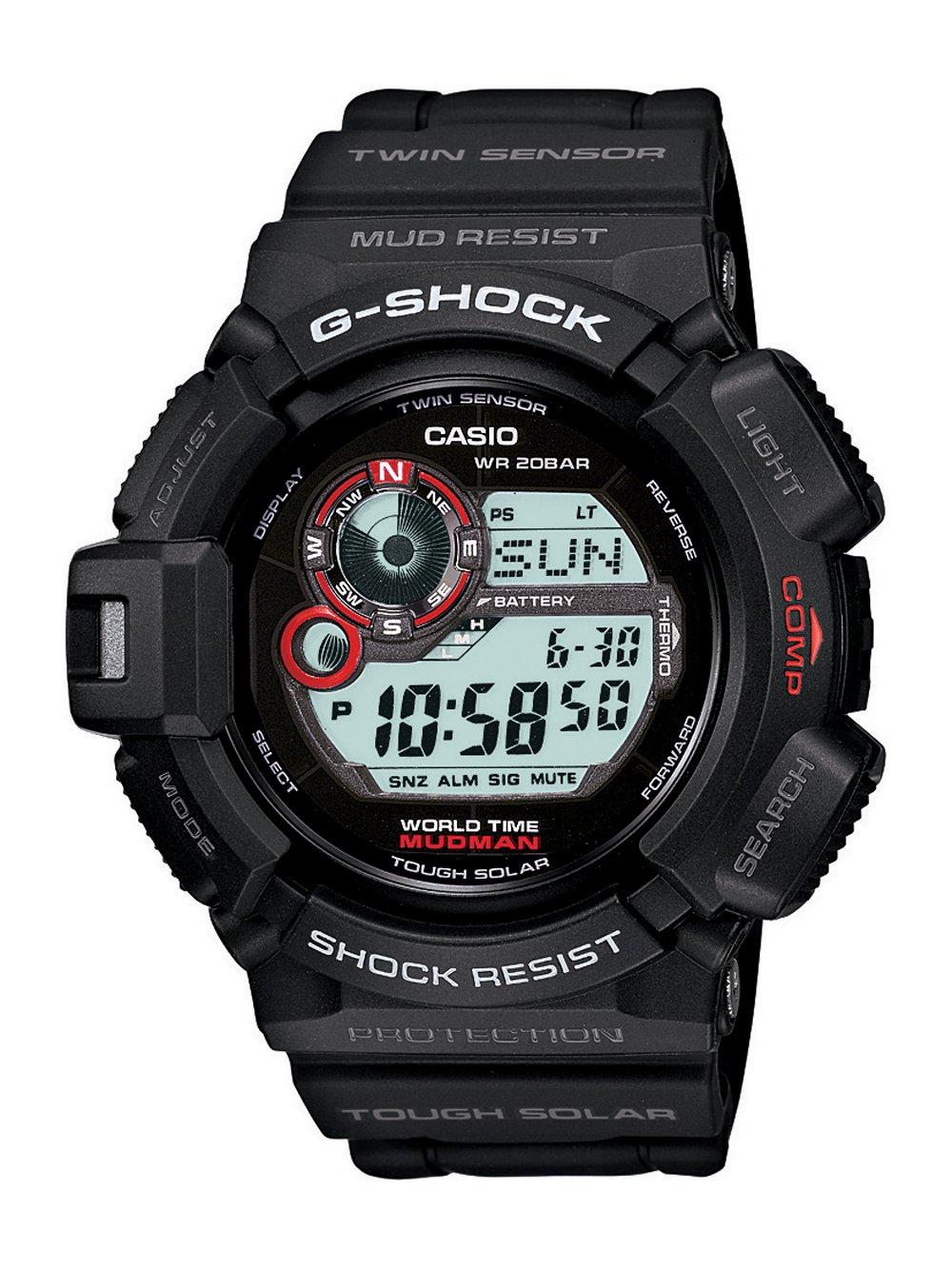 Casio Men's G9300-1 Mudman G-Shock Shock Resistant Multi-Function Sport Watch by Casio