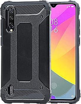 Weideworld Funda para Xiaomi Mi 9 Lite + Cristal Templado, Robusta Armadura Híbrida TPU + PC [Doble Capa] Carcasa de Protección Hibrida Armadura Funda para Xiaomi Mi 9 Lite, Negro: Amazon.es: Electrónica