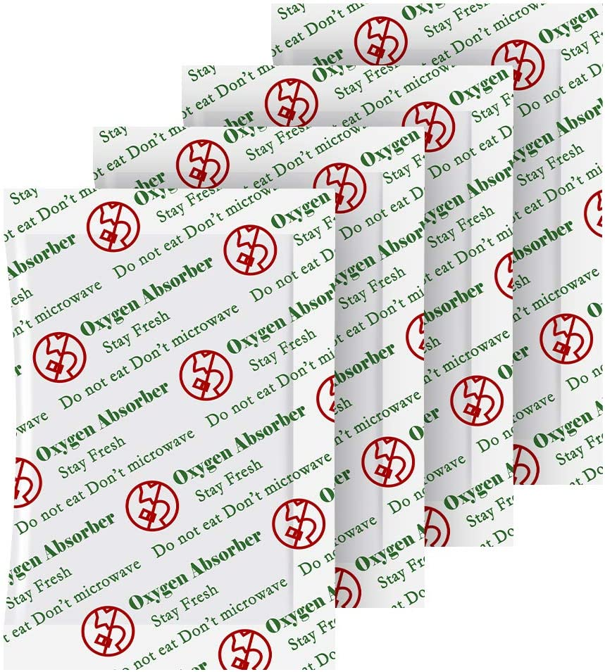 WVacFre 100cc(100Packets) Oxygen Absorbers Packets for Food,Food Grade Oxygen Absorbers for Food Storage.