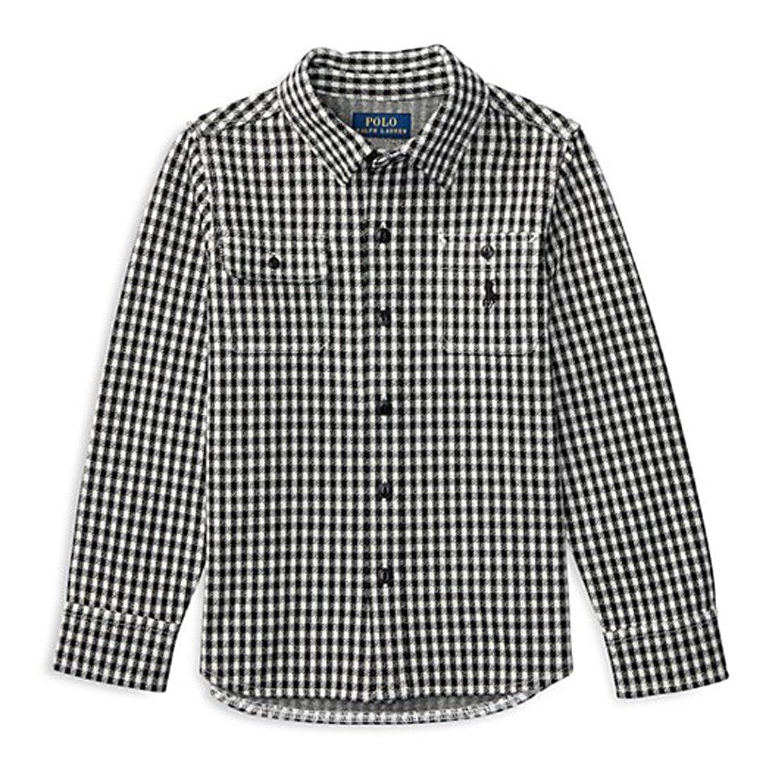 Ralph Lauren Boys Jacquard Workshirt Check Knit Shirt