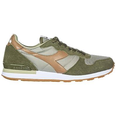 Diadora Scarpe Sneakers Uomo camoscio Nuove Camaro Verde