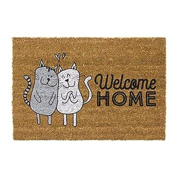 Dream Hogar Felpudo Original Gatos Welcome Home Antideslizante 70x40 ...