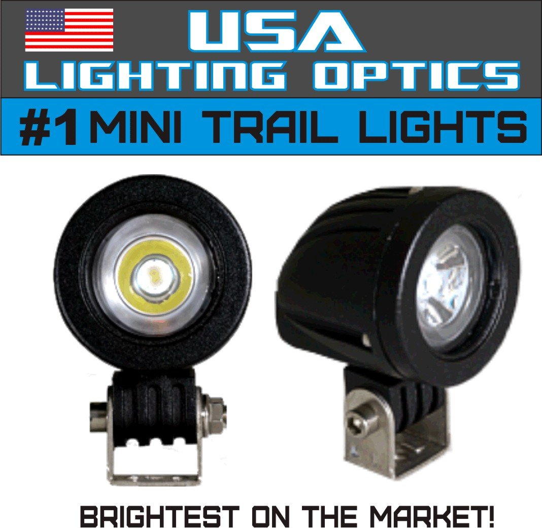 #1 Mini Trail Lights by USA Lighting Optics 20W CREE LED Spot Motorcycle Offroad Dual Sport Enduro Fog Trail Head Light for Xr DRZ EXC Dirt Bike Dual Sport KTM USA Lighting Optics Inc. USA-SLB-1C-20W