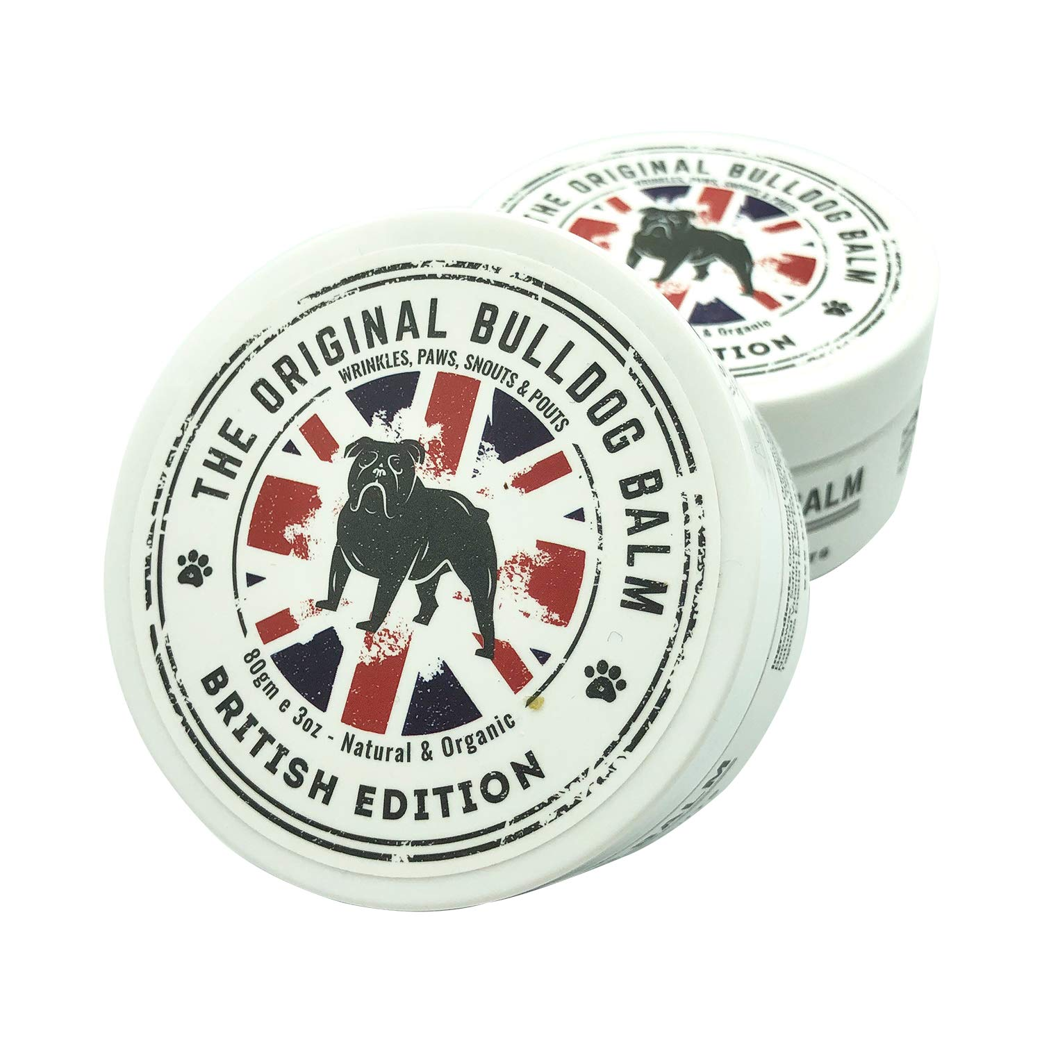 The Original Bulldog Balm British Edition | Formulated for All Breeds | Lick Safe | Healing and Soothing | Keeps Snouts and Pouts Beautiful | Paw Soother | Protects Wrinkles | Natural and Organic by The Original Bulldog Balm