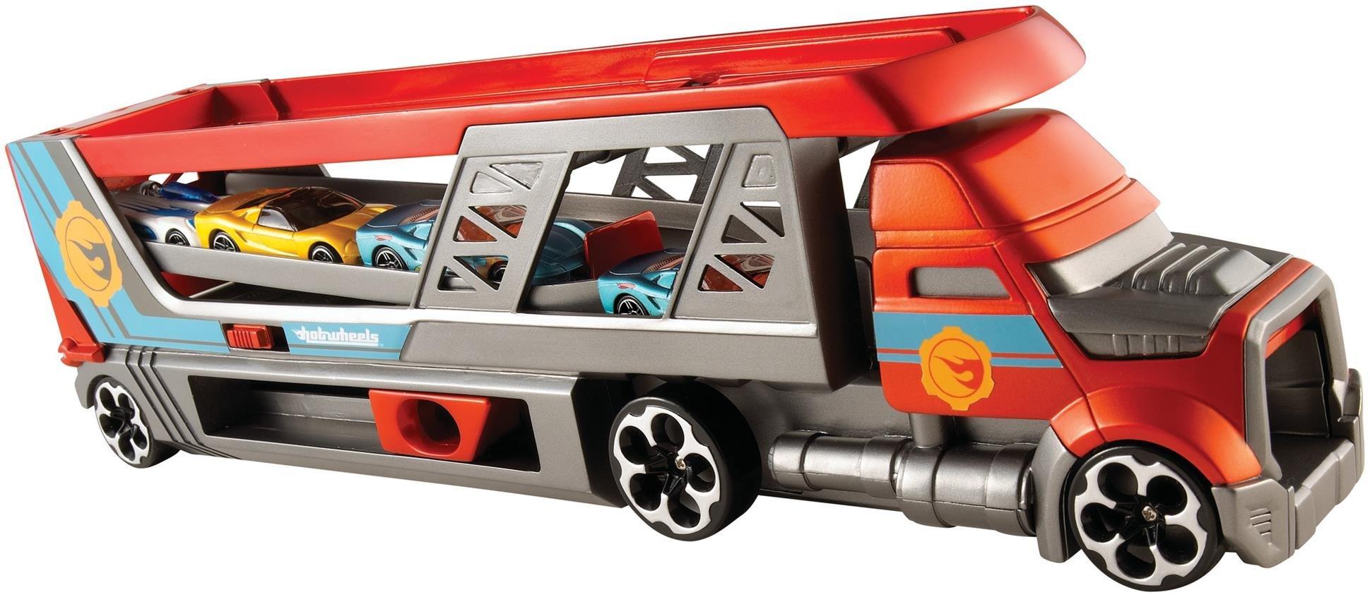 Hot Wheels CDJ19 Mega Hauler Truck, Toy Garage for Diecast Cars [Amazon Exclusive]
