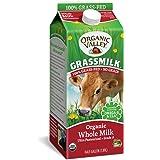 Organic Valley Grassmilk, Organic Whole Milk, Ultra Pasteurized, Half Gallon, 64 Ounces