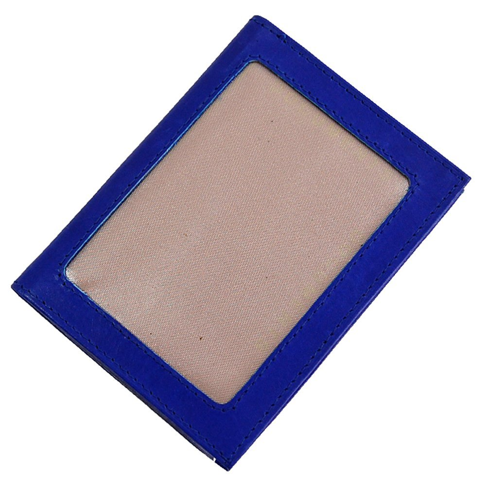 Branco Ausweisetui Leder Ausweismappe Ausweishülle Personalausweismappe Etui GoBago (Blau)