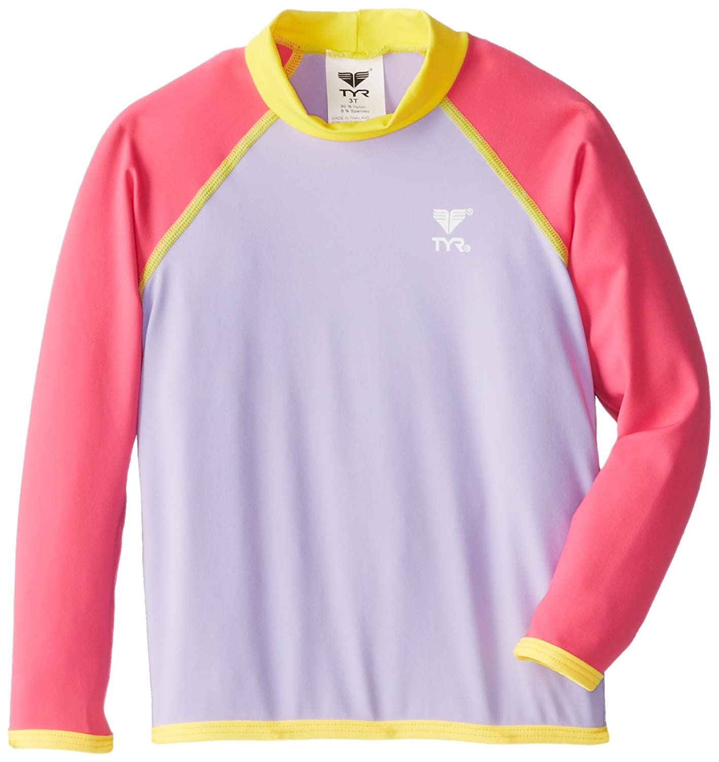 TYR Kids Girls UV Rashguard (KGRGS2) - Purple/Pink - 7/8 KGRGS2Y