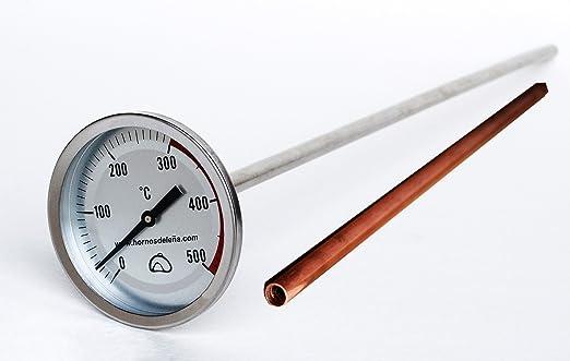 Pirómetro Profesional Extra-Largo para Horno, 50cm, con Vaina de ...