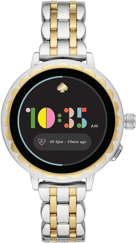 Kate Spade New York Scallop 2 Smartwatch con Pantalla táctil - Acero Inoxidable Plateado/Dorado de Dos Tonos para Mujer KST2012