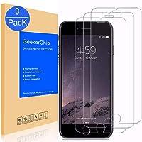 GeekerChip Vetro Temperato iPhone 6/6S Pellicola Protettiva[3 pack], Pellicola Protettiva Schermo in Vetro Temperato per iPhone 6/6S