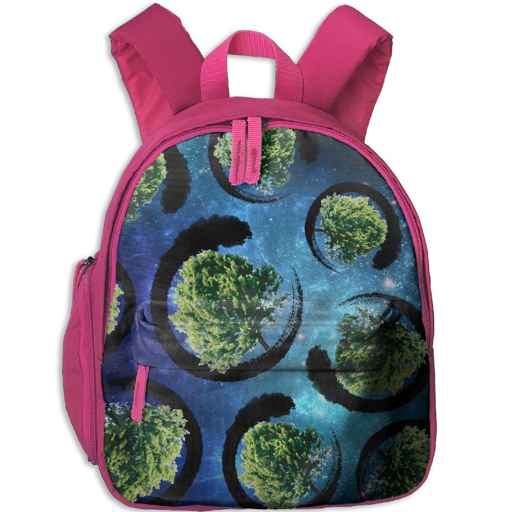 Bonsai Tree Zen Lover 3D Print Boys Funny Lightweight Casual Backpack School Bags