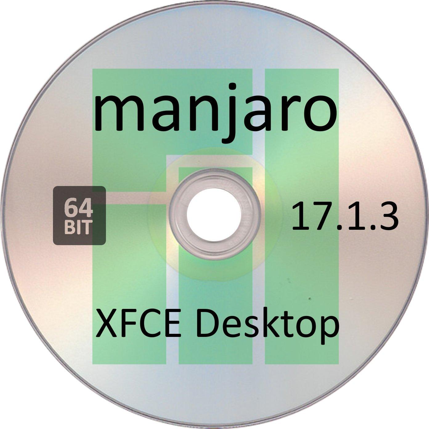 Manjaro Linux 17.1.3, XFCE Desktop, 64 Bit by Linux2DVD