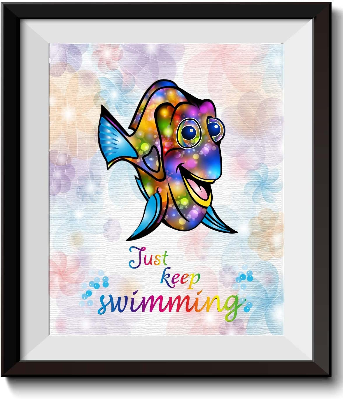 Uhomate Dory Finding Nemo Home Canvas Prints Wall Art Anniversary Gifts Baby Gift Inspirational Quotes Wall Decor Living Room Bedroom Bathroom Artwork C020 (8X10)