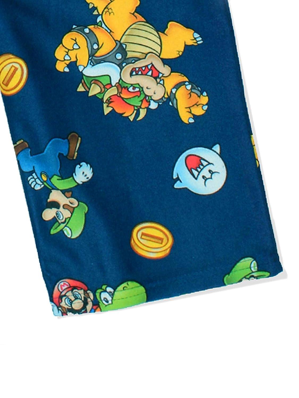 Super Mario Boys Flannel Lounge Pajama Pants Little Kid//Big Kid