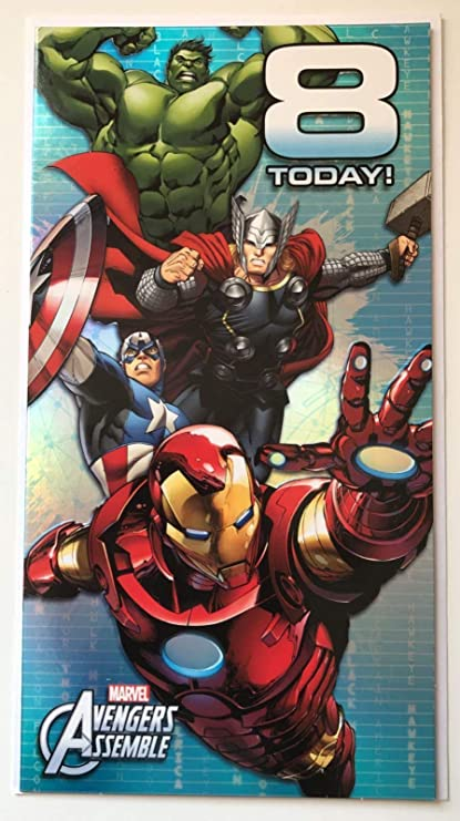 Amazon.com: marvel avengers assemble 8 today! birthday card ...