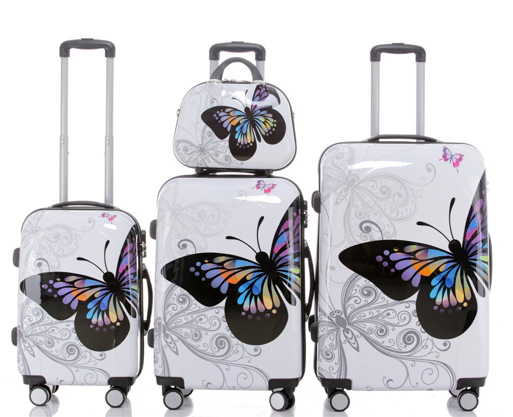 2060 Travel Suitcase Set Trolley Luggage Set Suitcase Hard Shell Suitcase Set in 12 Designs Set of 4, Set of 3 and Single Size XL/L/M/S) BEIBYE