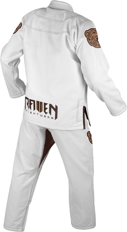 Raven Fightwear Men/'s Berserker Jiu Jitsu Gi BJJ Uniform Black