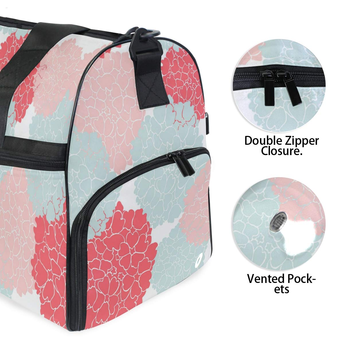 Travel Duffels Flowers In Clusters Duffle Bag Luggage Sports Gym for Women /& Men