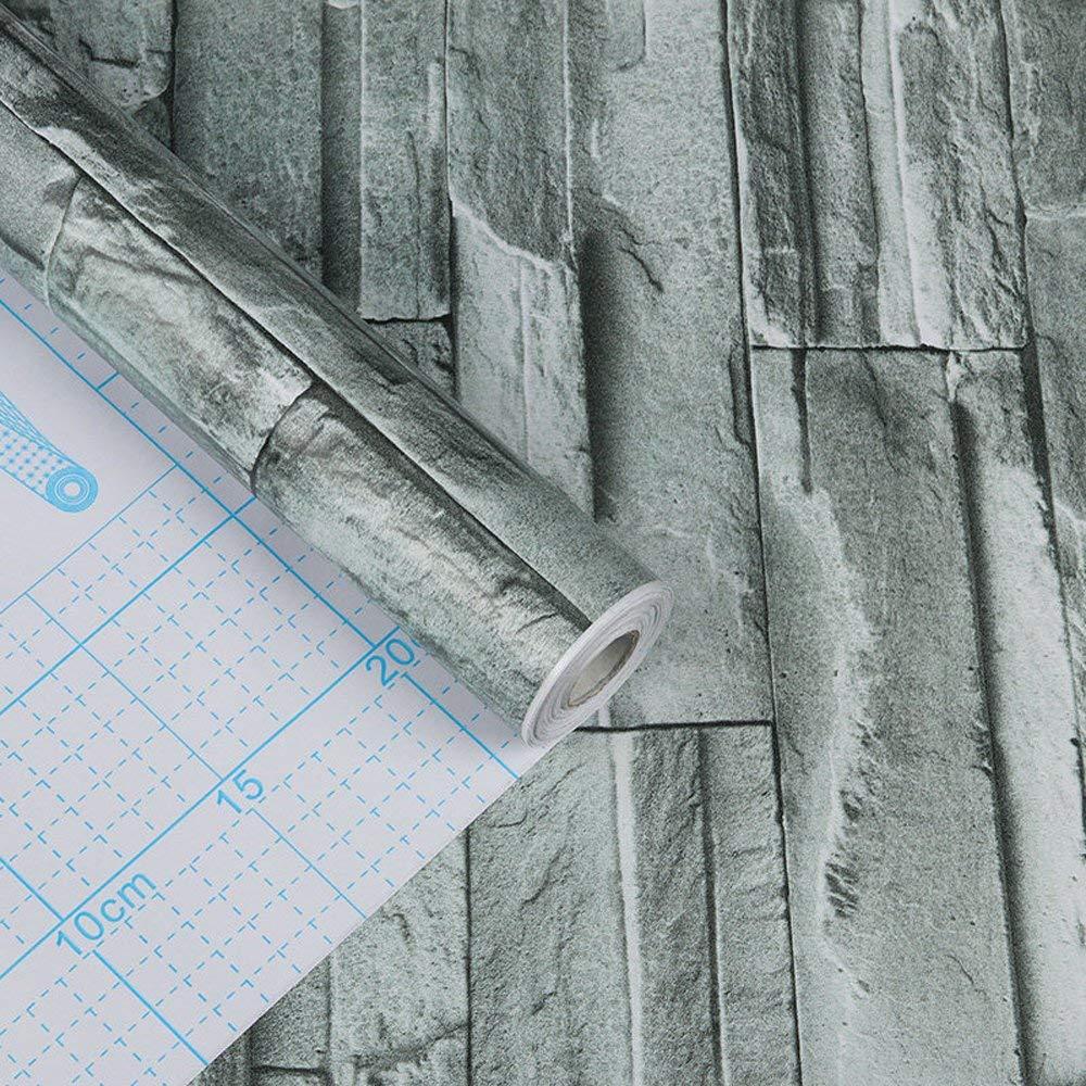 Autoadhesivo sint/ética piedra ladrillo patr/ón Contacto Papel Vinilo Decorativo Peel y Stick ladrillo papel pintado para pared decoraci/ón 45 x1000 cm