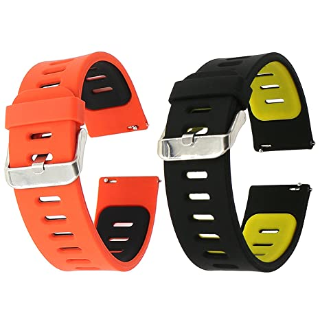 EL-move Silicone 22mm Bande Bracelet Montre Strap Remplacement Band pour Pebble Time / Motorola 360 2nd ...