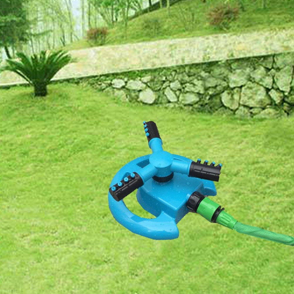 SIENOC C/írculo de c/ésped de 360 /° Rociador de agua giratoria 3 Riego para jard/ín con boquilla