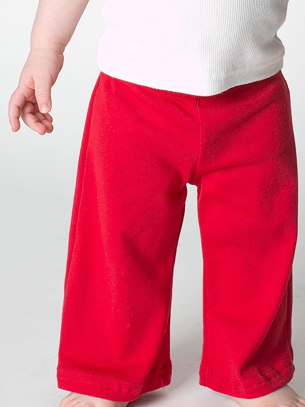Red 3-6 Months American Apparel Infant Baby Rib Karate Pant