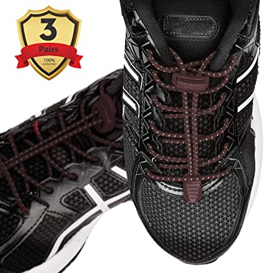 No Tie Shoelaces Elastic Laces Lock for Kids Adult Trainers Running Triathlon UK