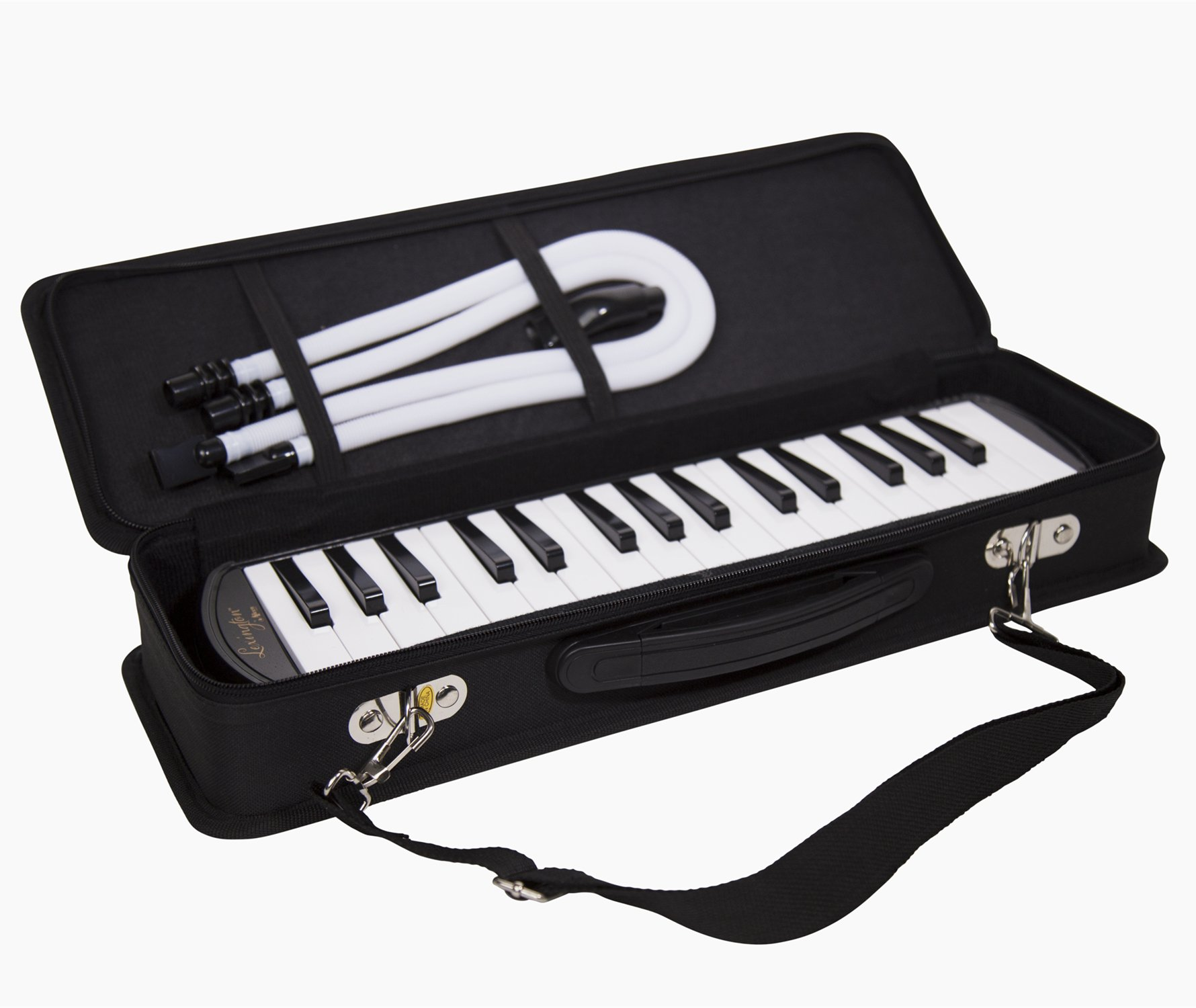 32 Piano Keys Melodica Made of Bronze Base and Reed, Package Includes 1 Carrying Case,1 Short, 2 Long Mouthpieces by Aileen (Image #3)