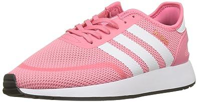 2f49bda00b4 adidas Youth N-5923 Chalk Pink White Textile Trainers 4 US