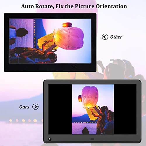 12 Inch Digital Picture Frame 1920×1080 Video Frame HD IPS Screen 16 9 Ratio Photo Auto Rotate