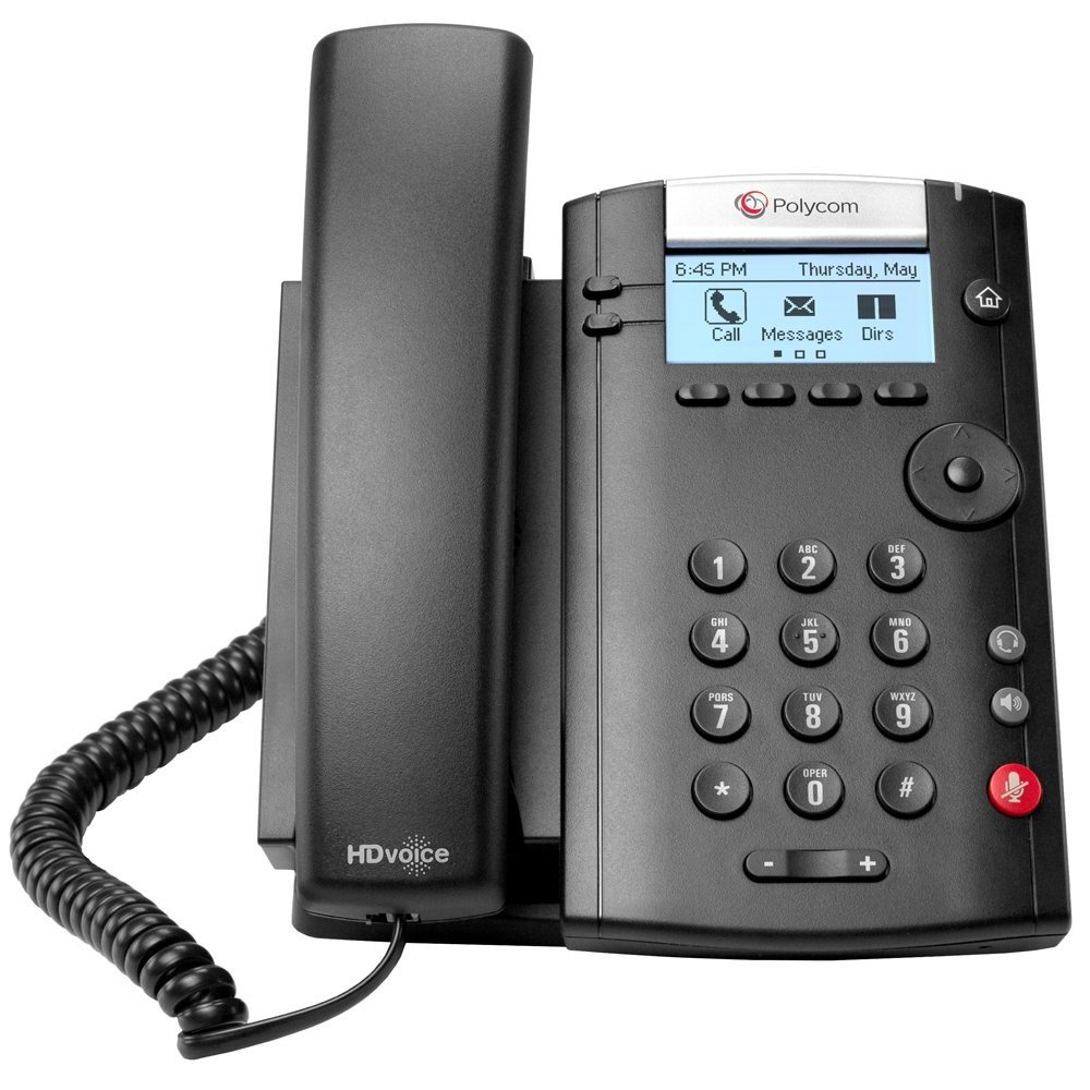 POLYCOM 2200-40450-001 VVX 201 Business Media Phone (PoE) - with Power Supply Polycom 2200-40450-001 (Certified Refurbished)