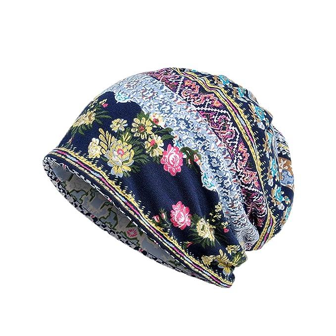 Boomly Morbido Elastico Berretto in Cotone Lungo Slouch Beanie Hat Berretto  per Chemioterapia Cappello per la 8b0a996af6d2