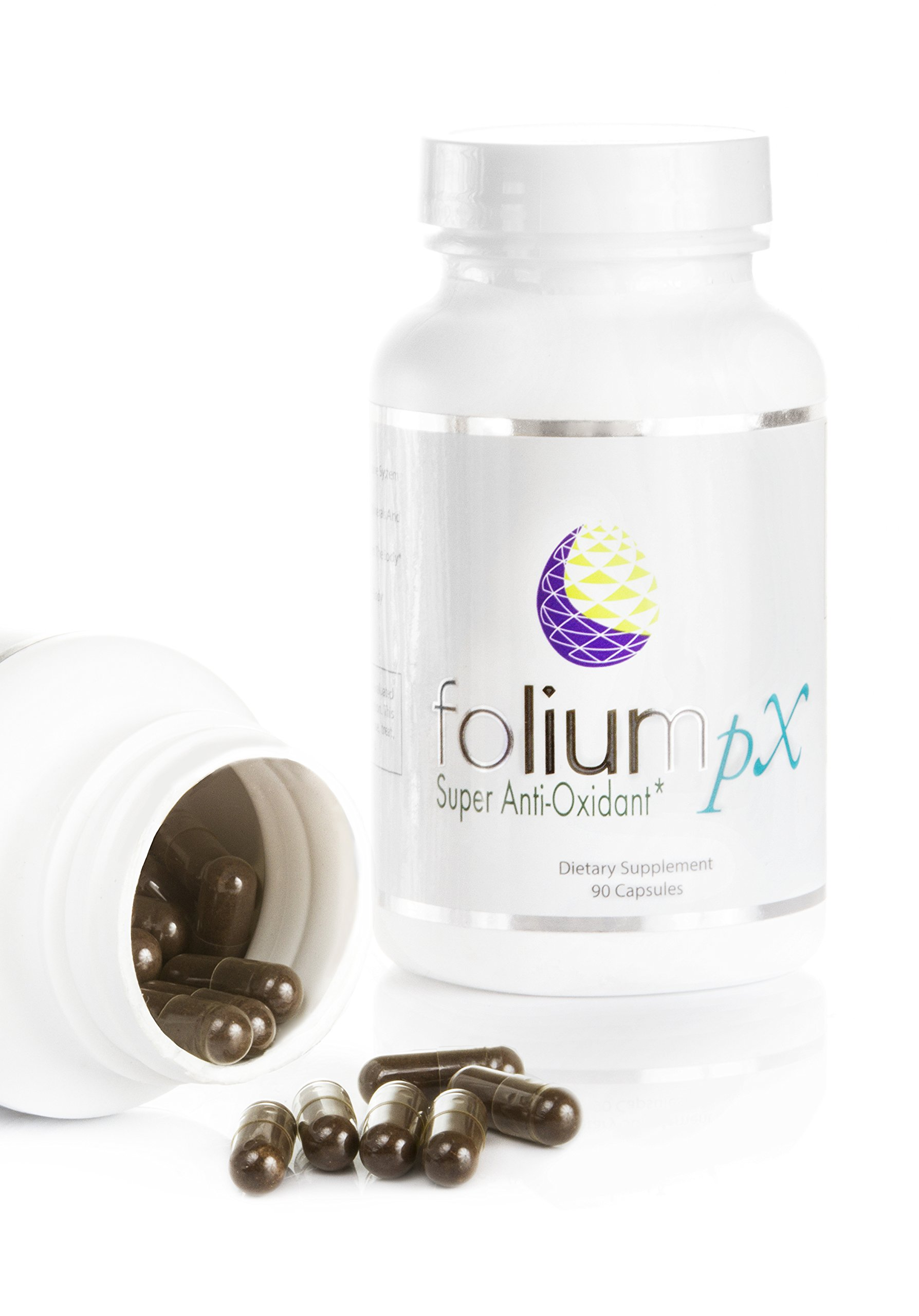 Folium pX Immune System Support, Full Body Cleanse, Heavy Metal Detox, Mercury, Lead, Arsenic, Barradium, Cadmium Poisoning, Super Antioxidant Supplement, Pine Bark, Grape-Seed Extract by FoliumpX