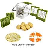Keynice Kitchen French Fry Potato(carrots) Cutter, potato chipper, High Quality Stainless Steel Blades, Potato Vegetable chipper