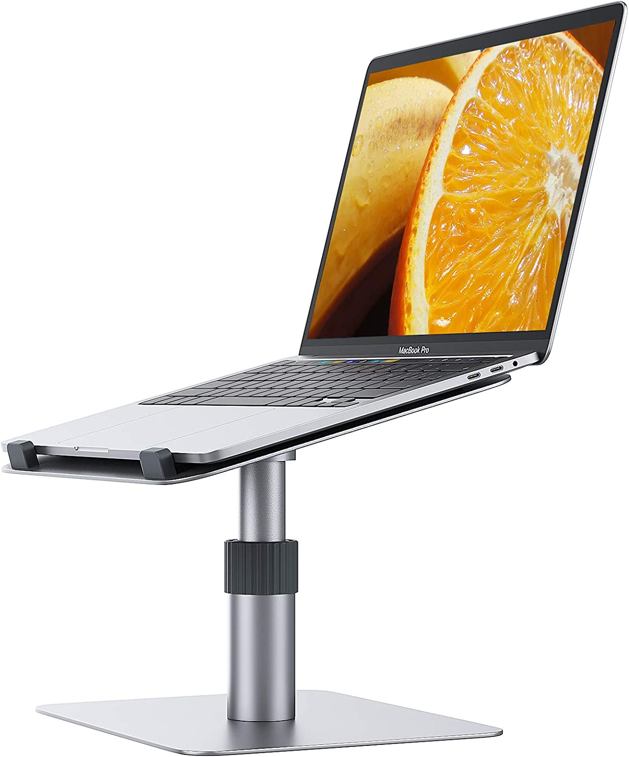 Adjustable Laptop Stand for Desk,Chivving Aluminum Laptop Riser,Adjustable Height 360° Rotating ErgonomicComputer Stand Notebook Holder,Compatible with MacBook Pro/Air,Dell XPS,Lenovo(10-16 Inches)