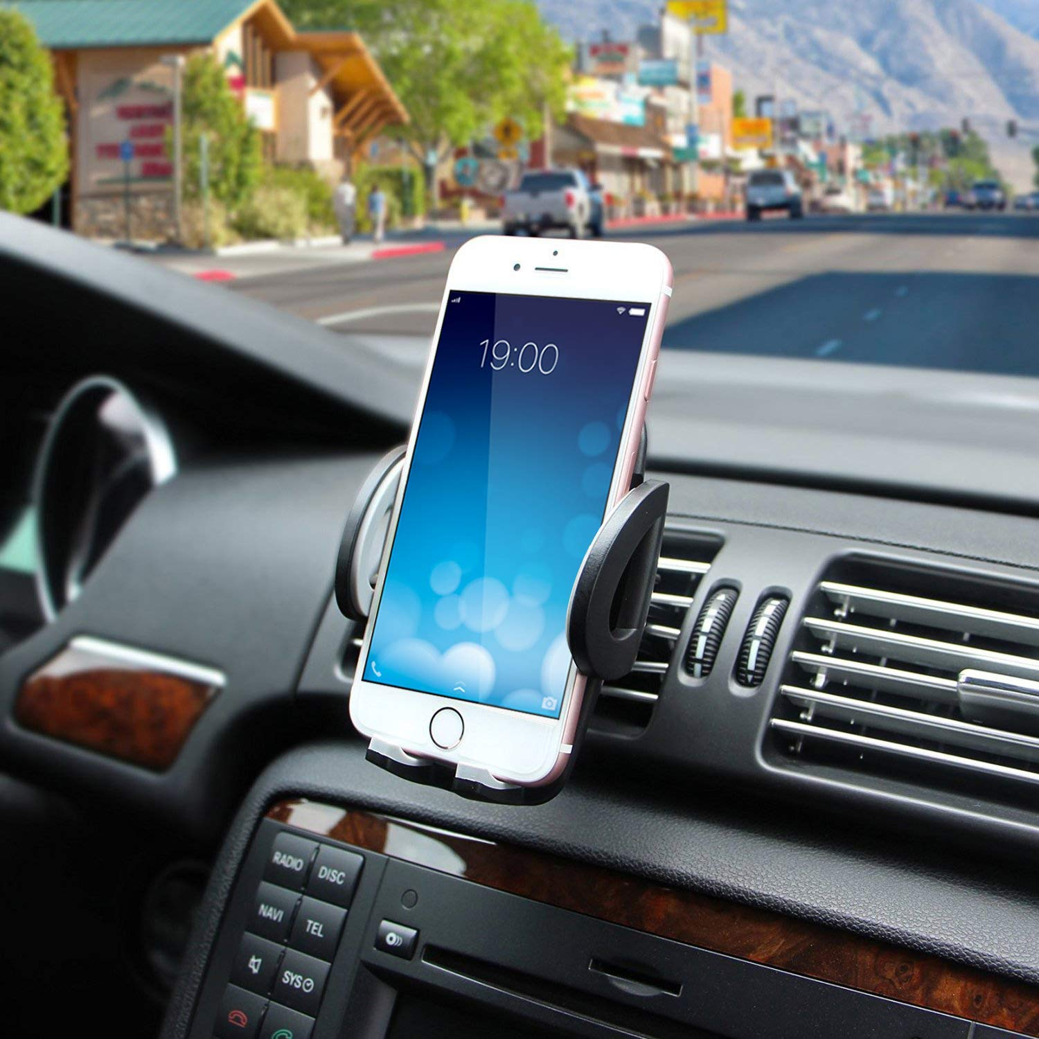 Windshield Dashboard Cradle for GPS iPhone XS Max XR 8Plus 8 7 7Plus 6 6Plus 5S 5 5C Samsung Galaxy S8 S7 Edge 6S Smartphones 12C-2314-Z Cell Phone Holder LotFancy Mobile Phone Car Mount