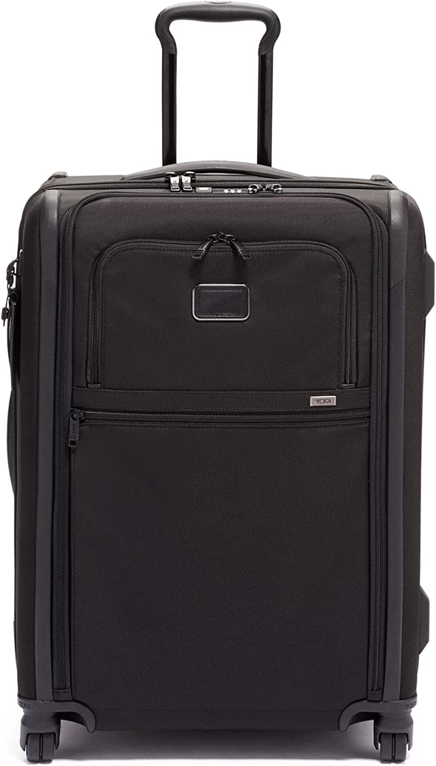 TUMI – Alpha 3 Short Trip Expandable 4 Wheeled Packing Case Suitcase – Rolling Luggage for Men and Women – Black