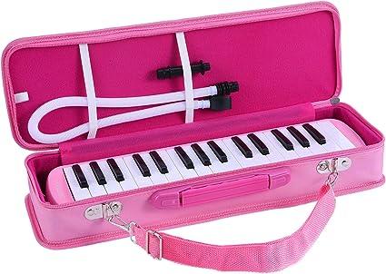 37 Tasten Melodica Harmonica Klaviertastatur Typ Tragbares Musikinstrument Rosa